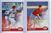 SHOHEI OHTANI RC LOT 2018 DIAMOND KINGS BOTH ROOKIES & PORTRAIT RC