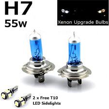 H7 55w Super Blanco Xenon Faro de actualización (499) Hid Bombillas 12v +T10 5SMD W5W LED