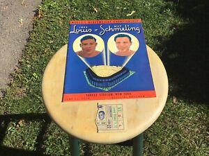 Joe louis max schmeling championship fight program&ticket stub june 22nd 1938