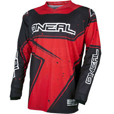 O'neal Element Long Sleeve Sleeved DH Downhill MTB Bike Jersey Black Red Small