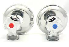 Washing Machine Taps Laundry Chrome Tap Set 1/4 turn Ceramic Disc Stops 65mm Lng