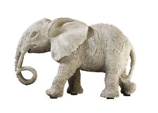 "Decorative Polyresin Walking ""Elephant"" Figure - Grey"