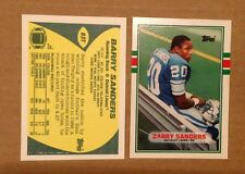 1989 TOPPS TRADED BARRY SANDERS #83T RC Detroit Lions HOF Legend Oklahoma State
