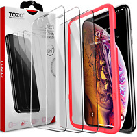 iPhone XR Screen Protector [3-Pack] Premium Tempered Glass [0.26mm] 9H 2.5D TOZO