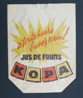 Ancien sac publicitaire Raymond KOPA Jus de Fruit buvez sain