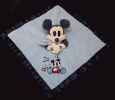 Doudou Souris Mickey Mouse DISNEY Plat Carré Bleu my best friend N°1 NEUF