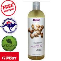 Now Foods Solutions - 100% Pure Castor Oil - 473 ml - Vegan Skin Hair Emollient