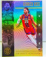 Derrick Rose 2019-20 NBA Panini Illusions Silver Holo Refractor Card #9 Pistons