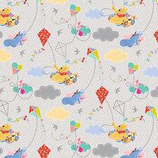 Disney Winnie the Pooh w/Dots 100% Cotton fabric by the yard