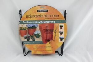 "Fiskars Adjustable Plant Riser Fits 16"" and Larger Planters NEW A008"