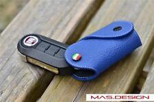 Blue Leather key case for FIAT 500  PANDA BRAVA PUNTO STILO