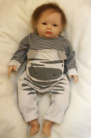 55cm Realistic Handmade Reborn Boy Newborn Toddler Baby Accompany Kids Toy Gift