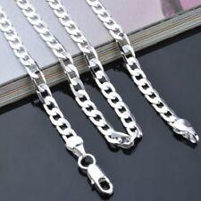 Cadena de Plata,Pure Real 925 Sterling Silver Figaro Chains Necklaces Women Men