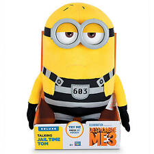 NEW IN BOX! Despicable Me 3 Deluxe Talking Huggable Jail Time Tom Plush Minion