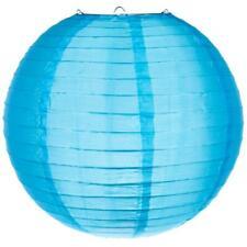"20"" Sky Blue Nylon Lantern, Even Ribbing, Durable, Hanging Decoration"