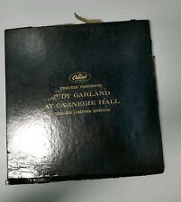 LE Judy Garland At Carnegie Hall Record Album W/ Head Shot Limited Edition
