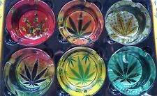 Glass leaf Ashtray