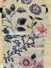 TAHARI Watercolor Floral Shower Curtain-Purple,Blue Light Gray 72x72