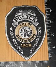 City of Greensboro North Carolina 1808 Police Department Cloth Patch Only