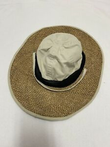Columbia Women's S/M Wide Brim Cotton/Straw Gardening Outdoor Hiking Sun Hat Cap