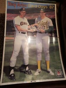 """Extremely Rare Jose Canseco & Will Clark Color Separation Advertisement 29""""x19"""""""