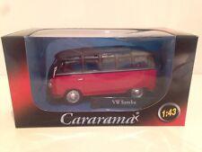 VW T1 Samba Bus Red & Black Cararama 251PND1A - 1:43 New Special Offer