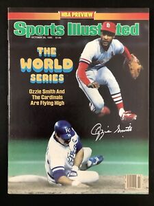 Ozzie Smith Signed Sports Illustrated 10/28/85 Cardinals No Label Autograph JSA