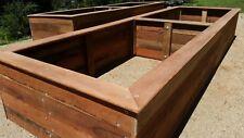 Timber Raised Garden Beds - 100% natural Hardwood planter boxes - 3000x900x400