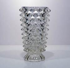 Vaso in vetro diamantato art deco' portafiori anni '30 antica vintage v104