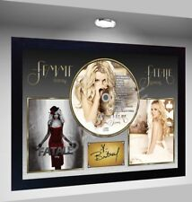 Britney Spears Femme Fatale SIGNED FRAMED PHOTO AND CD Disc Presentation Display