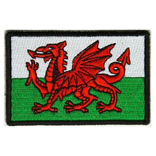 Embroidered Wales Welsh Flag Red Dragon Sew or Iron on Patch Biker Patch
