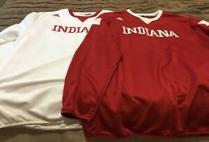 Indiana Hoosier XXL adidas pullovers (2 qty) red & white EUC
