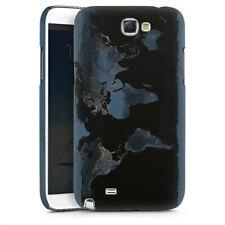 Samsung Galaxy Note 2 Premium Case Hülle Cover - Nightlight Worldmap