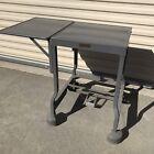 Vintage+INDUSTRIAL+TYPEWRITER+TABLE+Drop+Leaf+Metal+Mid+Century+Desk+Stand