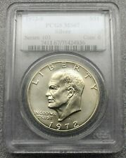 """1972-S Silver Eisenhower """"Ike"""" Dollar PCGS MS 67 PQ+~ Great Luster~ Free S/H"""