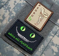 AFSOC PEDRO PJ DUSTOFF PARARESCUE SSI: Cheshire Cat We're All Mad Here + PEDRO