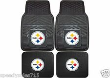 FANMATS NFL Pittsburgh Steelers Front & Rear Heavy Duty Car Mats New Free Ship