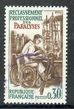 STAMP / TIMBRE FRANCE OBLITERE N° 1405 PARALYSES