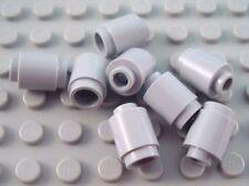 New LEGO Lot of 8 Light Bluish Gray 1x1 Round Bricks
