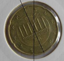 20 cent € euro coin désaxé 155° : fauté error fautée fehlprägung