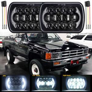 Pair 5x7'' 7x6 LED Headlight Hi/Lo Beam DRL For Toyota Pickup 82-1995 Tacoma MR2