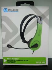XBOX 360 @play OFFICIAL WIRED CHAT HEADSET W/ BOOM MIC NEW Free Shipping