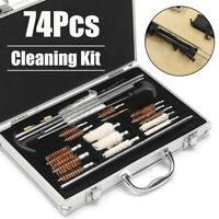 74Pcs Gun Cleaning Kit Air Rifle Barrel Shotgun Pistol Brushes Firearm Cleaner