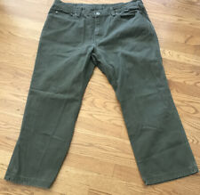 Duluth Trading Jeans Pants Khaki Green Men's Sz 40x28 Jeans Cotton