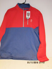 Nick Faldo Claret & Green 1/4 Zip Pullover Golf Jacket XL, RED/BLUE, NEW W/TAGS!
