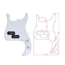 4 Pcs Bass Loaded Prewired Pickguard For Precison P Bass Guitar Parts White