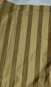 "1 New Croscill Mountain Stripe Box Pleat  18""L Bed Skirt"