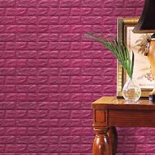 Hot PE Foam 3D Wallpaper DIY Wall Stickers Wall Decor Embossed Brick Stone