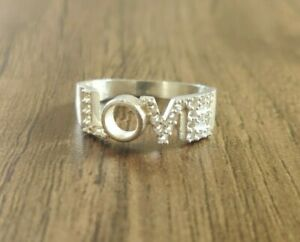 Silver Love Ring Setting 5 mm Round Semi Mount Engagement Ring Setting RingBlank