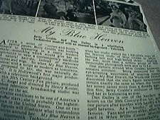 ephemera 1951 film story my blue heaven betty grable 2 pages